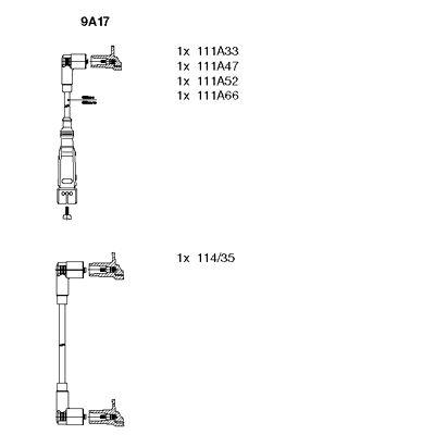 Комплект проводов зажигания BREMI 9A17
