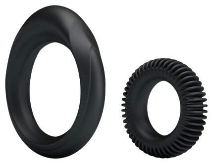 Набор эрекционных колец Baile ring manhood черный 3,3 см