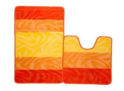 Набор ковриков для ванной PP MIX 4K оранжевый, SHAHINTEX 5364-2