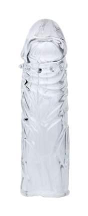Насадка Eroticon закрытая с шипиками под головкой прозрачный 14 см