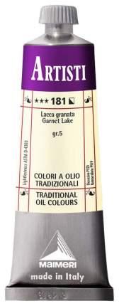 Масляная краска Maimeri Artisti гранатовый лак 40 мл