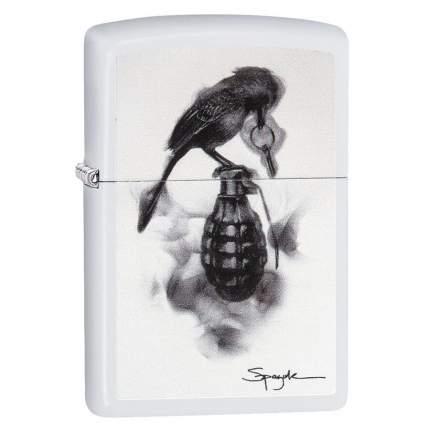 Бензиновая зажигалка Zippo Bird and Grenade Spazuk White Matte