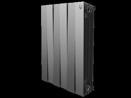 Радиатор биметаллический Royal Thermo PianoForte Silver Satin 591x647