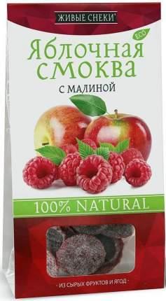 """Яблочная смоква """"С малиной"""", 60г, ЖИВЫЕ СНЕКИ"""