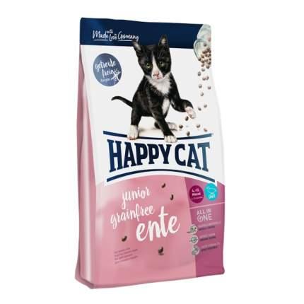 Сухой корм для котят Happy Cat Junior Grainfree, домашняя птица, утка, 1,4кг