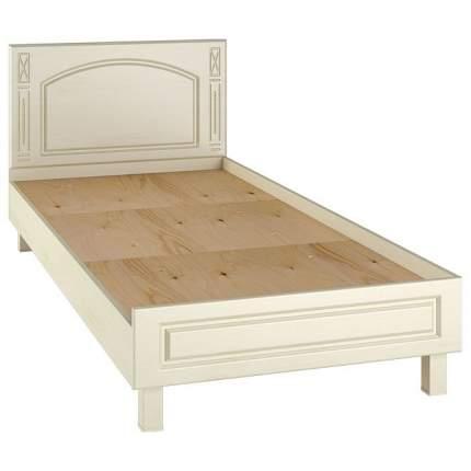 Кровать односпальная Компасс-мебель Элизабет ЭМ-17 90х200 см, бежевый