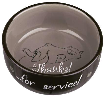 Миска для кошек TRIXIE Thanks for Service, керамическая, в ассортименте, 300мл
