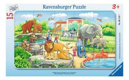 Пазл ravensburger «прогулка по зоопарку» 15элем.