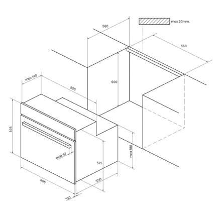 Встраиваемый электрический духовой шкаф KUPPERSBERG RC 699 ANX Black