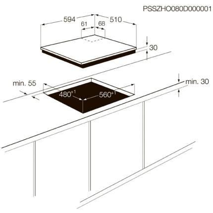 Встраиваемая варочная панель газовая Zanussi ZGG66424XA Silver