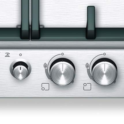 Встраиваемая варочная панель газовая Bosch PCH615M90E Silver