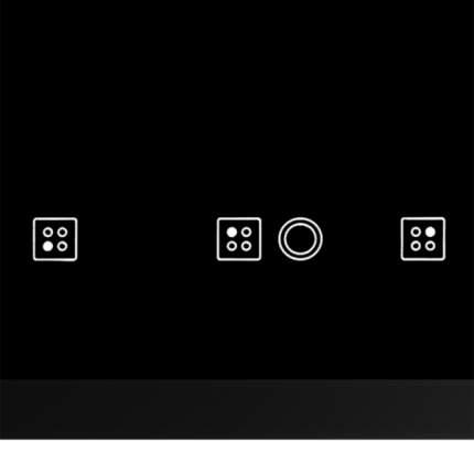 Встраиваемая варочная панель электрическая Hotpoint-Ariston RC641 DBRFH Black