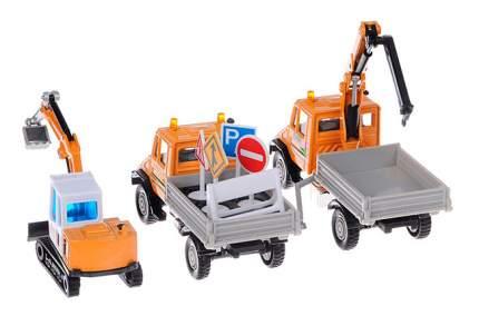 Набор машин строительной техники Welly 99610-3b