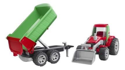 Трактор Bruder Roadmax с ковшом и прицепом