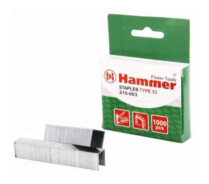 Скобы для электростеплера Hammer Flex 215-003 (34941)