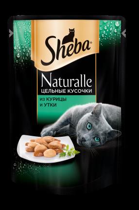 Влажный корм для кошек Sheba Naturalle из курицы и утки, 80г х 24шт