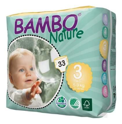 Подгузники Bambo Nature Midi (5-9 кг), 33 шт.