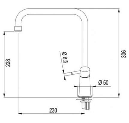 Смеситель для кухонной мойки Franke Galileo 115.0006.702 белый