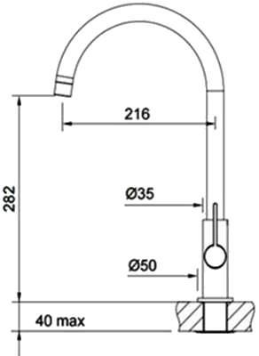 Смеситель для кухонной мойки Franke Ambient Swivel 115.0296.775 сахара