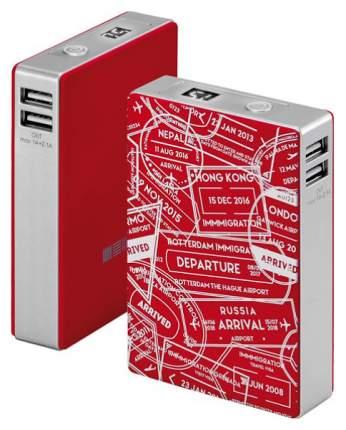 Внешний аккумулятор InterStep PB104TLUR 10400 мА/ч (IS-AK-PB104TLUR-000B201) Red/Silver