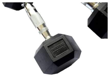 Гантель обрезиненная Original Fit.Tools FT-HEX-20 20 кг