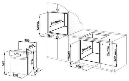 Встраиваемый электрический духовой шкаф GEFEST ДА 622-04 Black