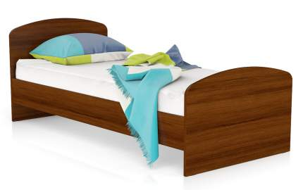 Кровать Мебельный Двор МД 900 ЛДСП 22 мм., орех 90х205х80, сп.м. 900х2000 мм.
