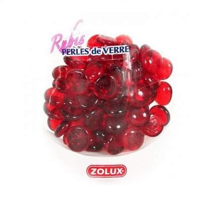 Декоративные камни для аквариума ZOLUX Рубин, стекло, красный, 1х1х0,8 см, 410 г