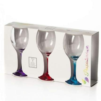 Набор бокалов Pasabahce Enjoy 290 мл, с цветными ножками, 3 шт