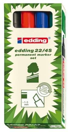 Набор маркеров для белых досок Ecoline 1,5-3 мм, клиновидный наконечник, 4 цвета в