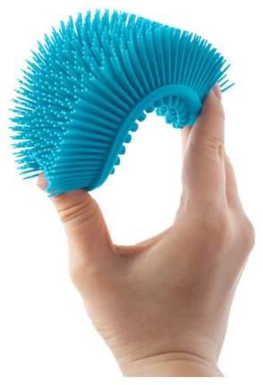 Губка для тела силиконовая Roxy-Kids овальная голубая