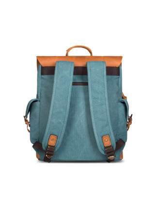 Рюкзак кожаный Ginger Bird Гонконг 22 л бирюза (лисы)