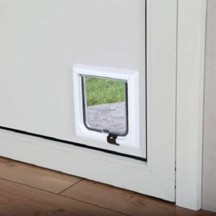 Дверца для кошек TRIXIE с 2-мя функциями 14,5х15,8см белая