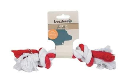 Игрушка для собак Beeztees Канат с 2-мя узлами двухцветный 640980 20 см в ассортименте