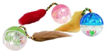Игрушка для кошек Beeztees Мяч-погремушка с кисточкой 4,5см в ассортименте