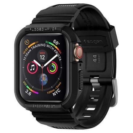 Чехол с ремешком Spigen Rugged Armor Pro для Apple Watch series 4 44 mm (Black)