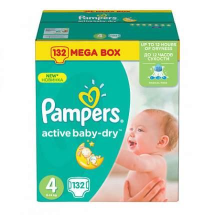 Подгузники Pampers Active Baby-Dry Maxi, от 7 кг, до 14 кг 132 шт.