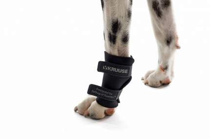 Протектор для собак Kruuse Rehab Carpal Joint Protection для запястного сустава, черный, S