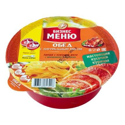 Лапша Бизнес меню с куриным филе и овощами быстрого приготовления 110 г