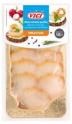 Палтус Vici Масляная холодного копчения филе кусоки 150 г