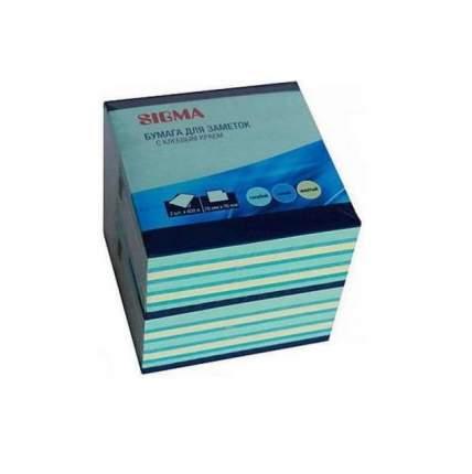 Блок бумаги для заметок Sigma 3 цвета 76х76мм 400л 2шт