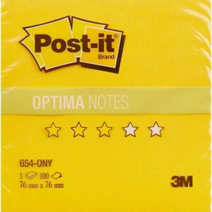Блок бумаги ЗМ Post-It Лето Желтый 76х76мм 100л