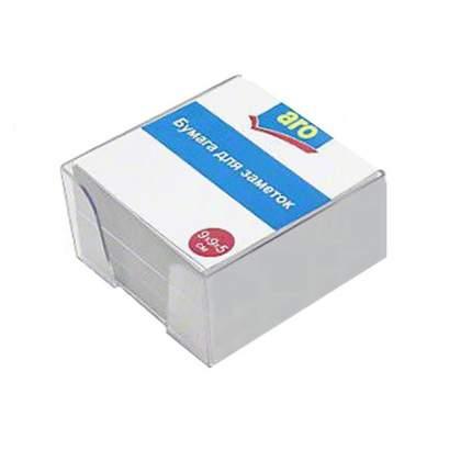 Блок бумаги для заметок Аro в пластиковом корпусе Белый 9х9х5см