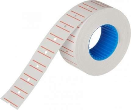 Этикет-лента 21,5х12 белая прямая с красной полосой рулон 10шт