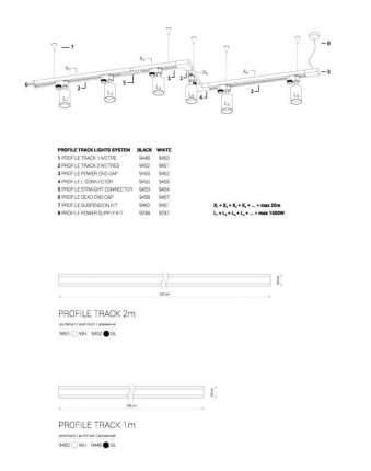 Шинопровод однофазный Nowodvorski Profile 9448