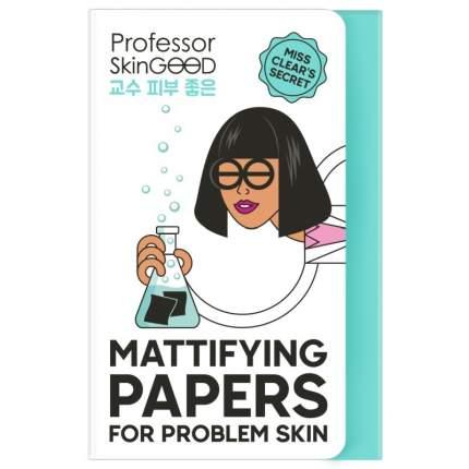 Матирующие салфетки Professor SkinGOOD для проблемной кожи Mattifying Papers 50 шт