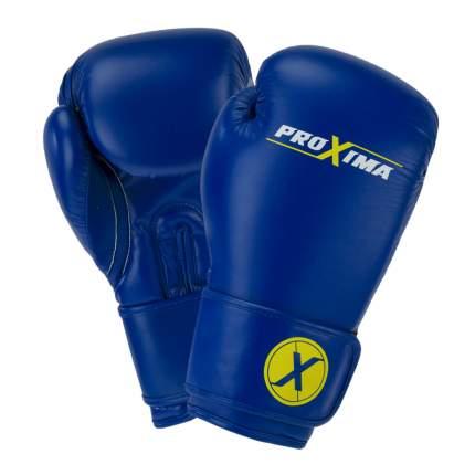 Proxima Перчатки боксерские PROXIMA натуральная кожа (синие)