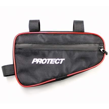 Велосумка под раму 23х12.5х5см PROTECT - Черная (555-530)