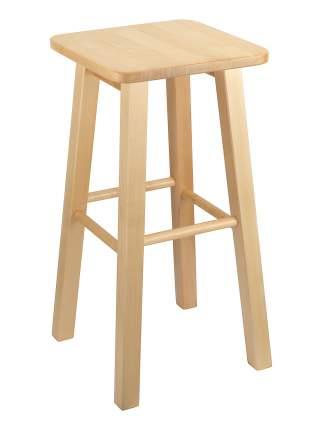 Табурет KETT-UP LOFT BAR барный, деревянный, сиденье квадратное, лак