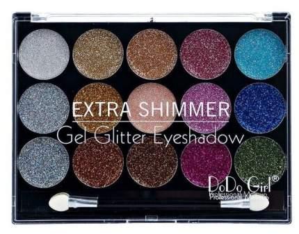 Тени для век Dodo Girl Gel Glitter 15 цветов 01 тон